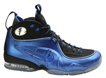 Combines the 5 shoes Penny wore when he was in the league. (Air Penny, Air Penny II, Air Penny III, Air Penny IV, and the Air Foamposite)