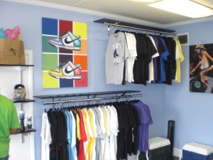 One of the walls to the shop....filled with HEAT!!!!!!!!!!!!!