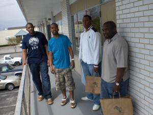 From R to L: Mario, me(t-large), patrick, marvin; Who says your boys cant leave with shopping bags...peep the KS logo on the bag!
