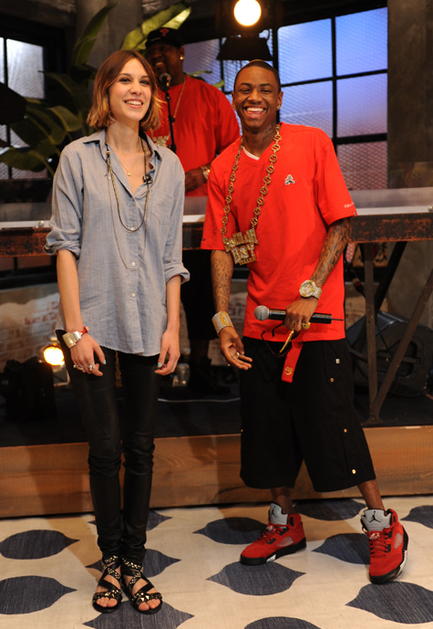 "Soulja Boy rocking the ""BIG CHEESE"" v-neck by PLAYCLOTHS"