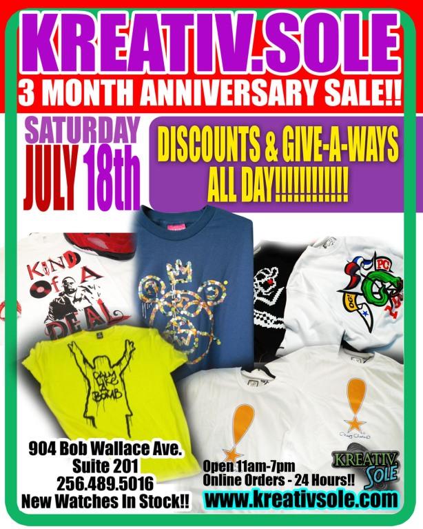 July anniversary sale