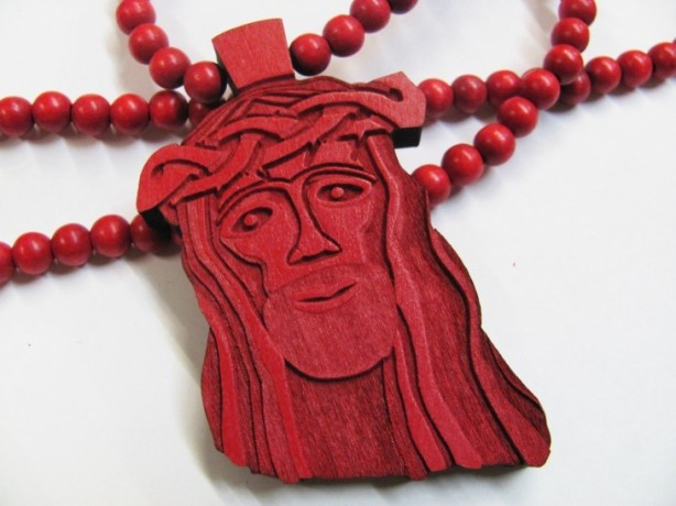 The limited edition RED JESUS by Good Wood.