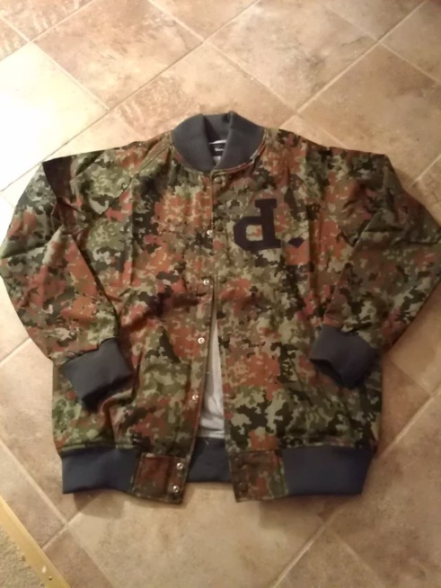 Diamond Supply Un-Polo Twill Camo Varsity Jacket  @kreativsole